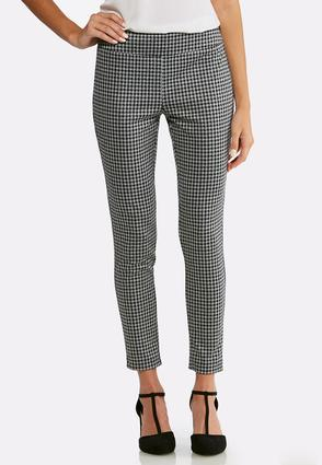 Houndstooth Pull- On Pants