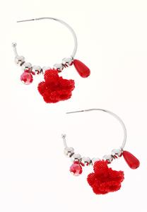 Velvet Charm Hoop Earrings