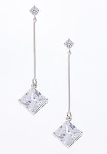 Cubic Zirconia Linear Earrings