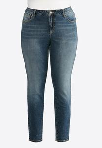 Plus Size Crosshatch Skinny Jeans
