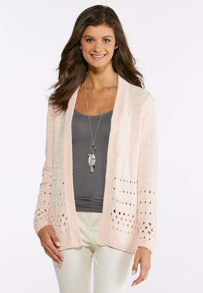Plus Size Cozy Chenille Cardigan Sweater