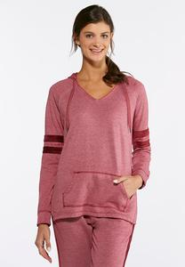 French Terry Velour Stripe Top