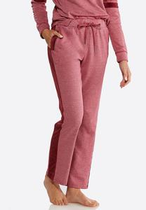 Velour Side Stripe Pants