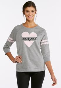 Plus Size Weekend Sweatshirt
