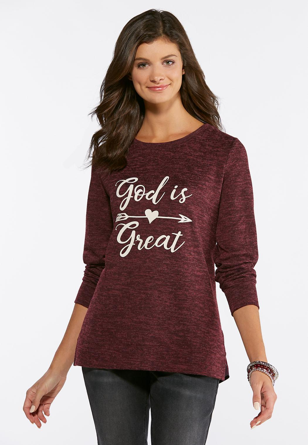 22de67345a430 God Is Great Arrow Top Graphic Tees Cato Fashions