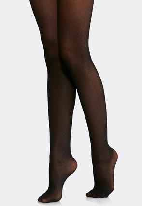 Plus Size Diamond Dot Opaque Tights