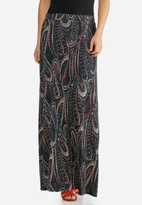 Plus Size Party Dot Maxi Skirt