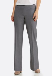 Pull-On Charcoal Trouser Pants