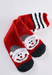 Cozy Snowman Slipper Socks