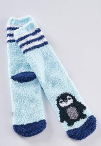 Cozy Penguin Slipper Socks