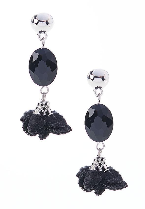 Velvet Flower Dangle Earrings