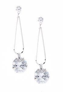 Cubic Zirconia Stone Dangle Earrings