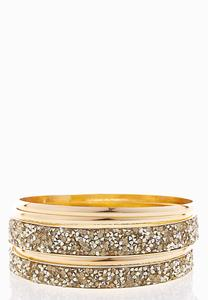 XL Textured Glitter Bangle Set