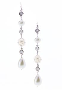 Pearl Bead Linear Earrings