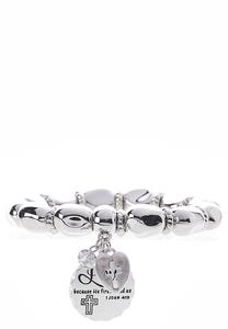 John Scripture Stretch Bracelet