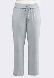 Plus Size Gray Wash Fleece Pants
