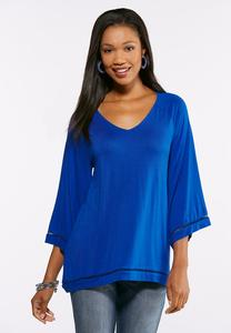 Bell Sleeve Ladder Stitch Top