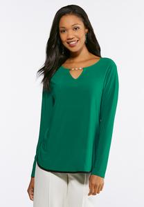Pearl Keyhole Top