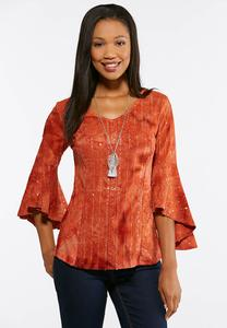 Embellished Bell Sleeve Top