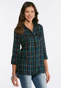 Plus Size Multi Plaid Tunic