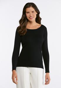 Plus Size Fine Knit Pullover Sweater