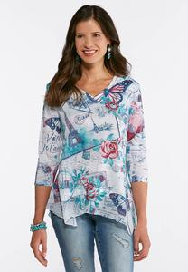 Plus Size Beautiful Paris Top