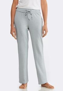 Gray Wash Fleece Pants