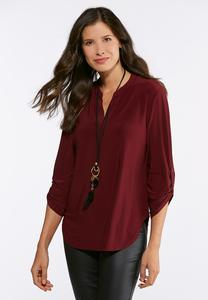Soft Stretch Solid Popover Top