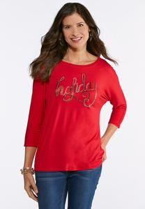 Embellished Holiday Top
