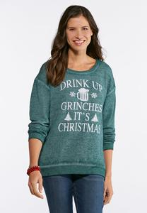 Plus Size Drink Up Grinches Sweatshirt