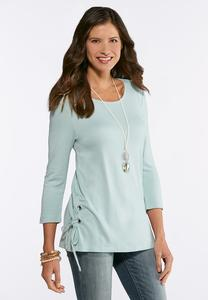 Plus Size Lace Up Ponte Tunic