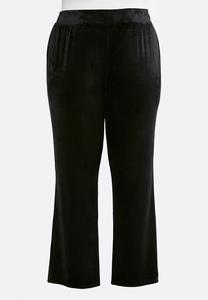 Plus Size Velour Track Pant