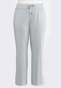 Plus Size Fleece Drawstring Pants