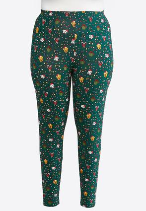 Plus Size Holiday Puppy Leggings