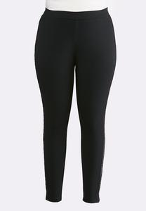 Plus Size Stud Ponte Leggings