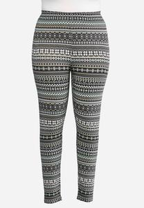 Plus Size Fair Isle Leggings