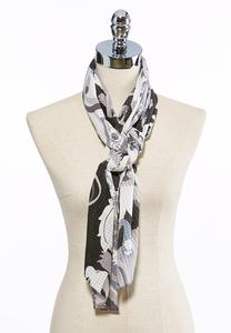 Shadow Paisley Oblong Scarf
