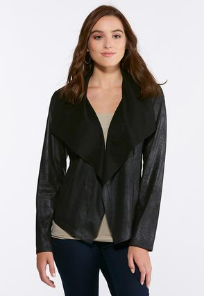 Crackle Faux Leather Jacket