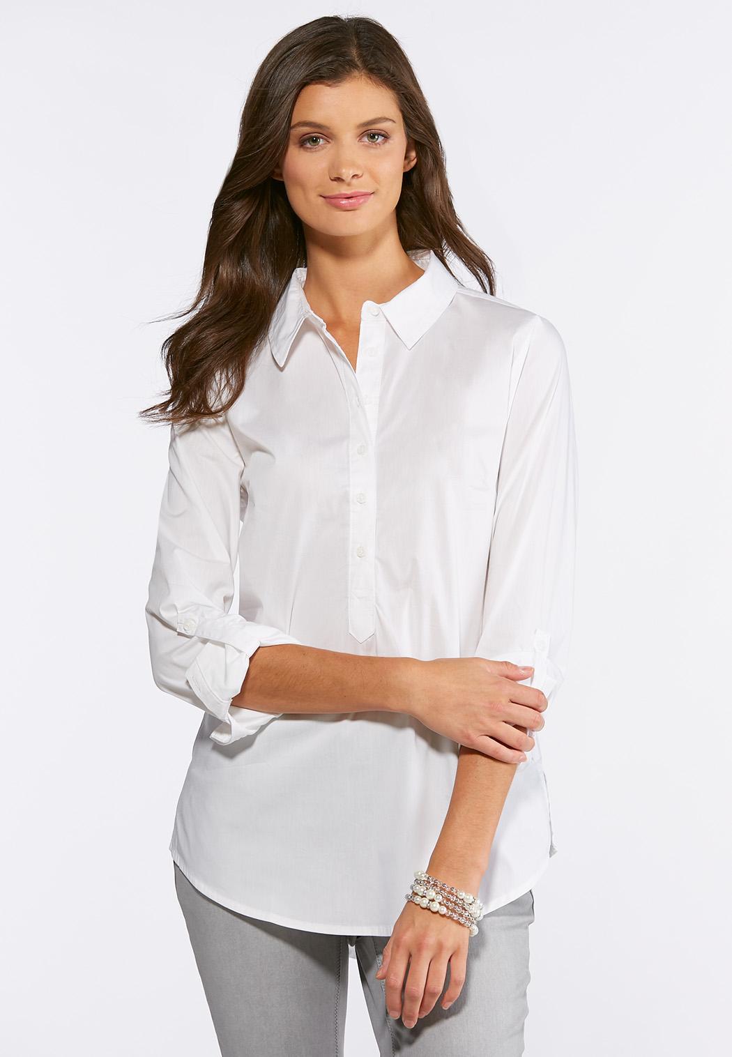 e3352952317c9 White Pullover Tunic Tops Cato Fashions
