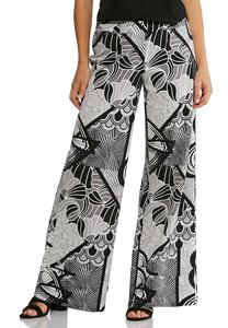 Black And White Geo Pants