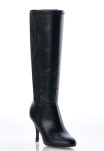 Wide Width Stretch Back Tall Boots