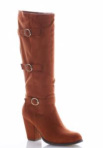 Triple Buckle Tall Boots