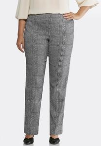 Plus Size Mixed Plaid Pants