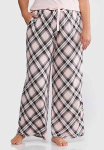 Plus Size Plaid Sleep Pants