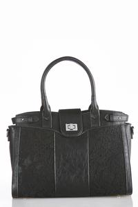 Lace Panel Satchel