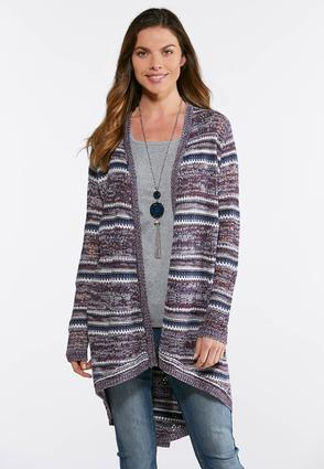 Plus Size Tie Back Cardigan Sweater