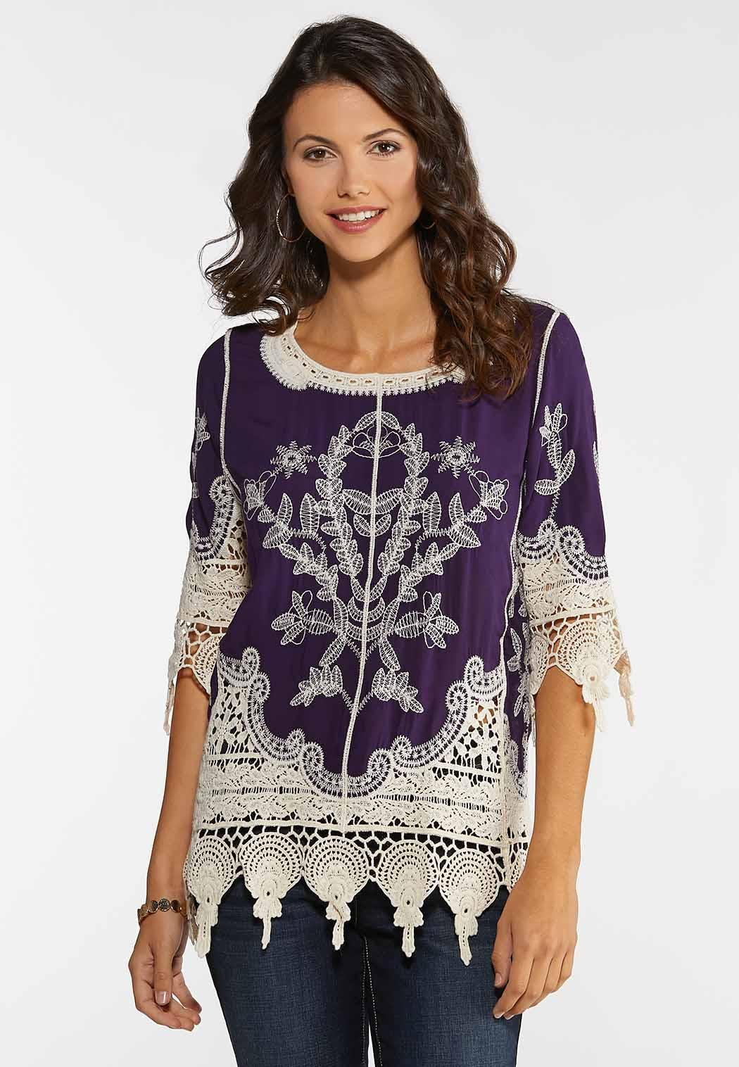 Crochet Embroidered Tunic