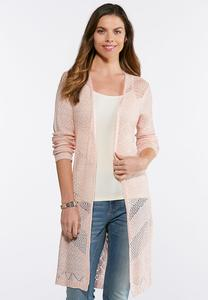 Lace Up Cardigan Duster