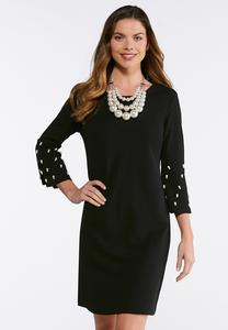 Pearl Bell Sleeve Dress