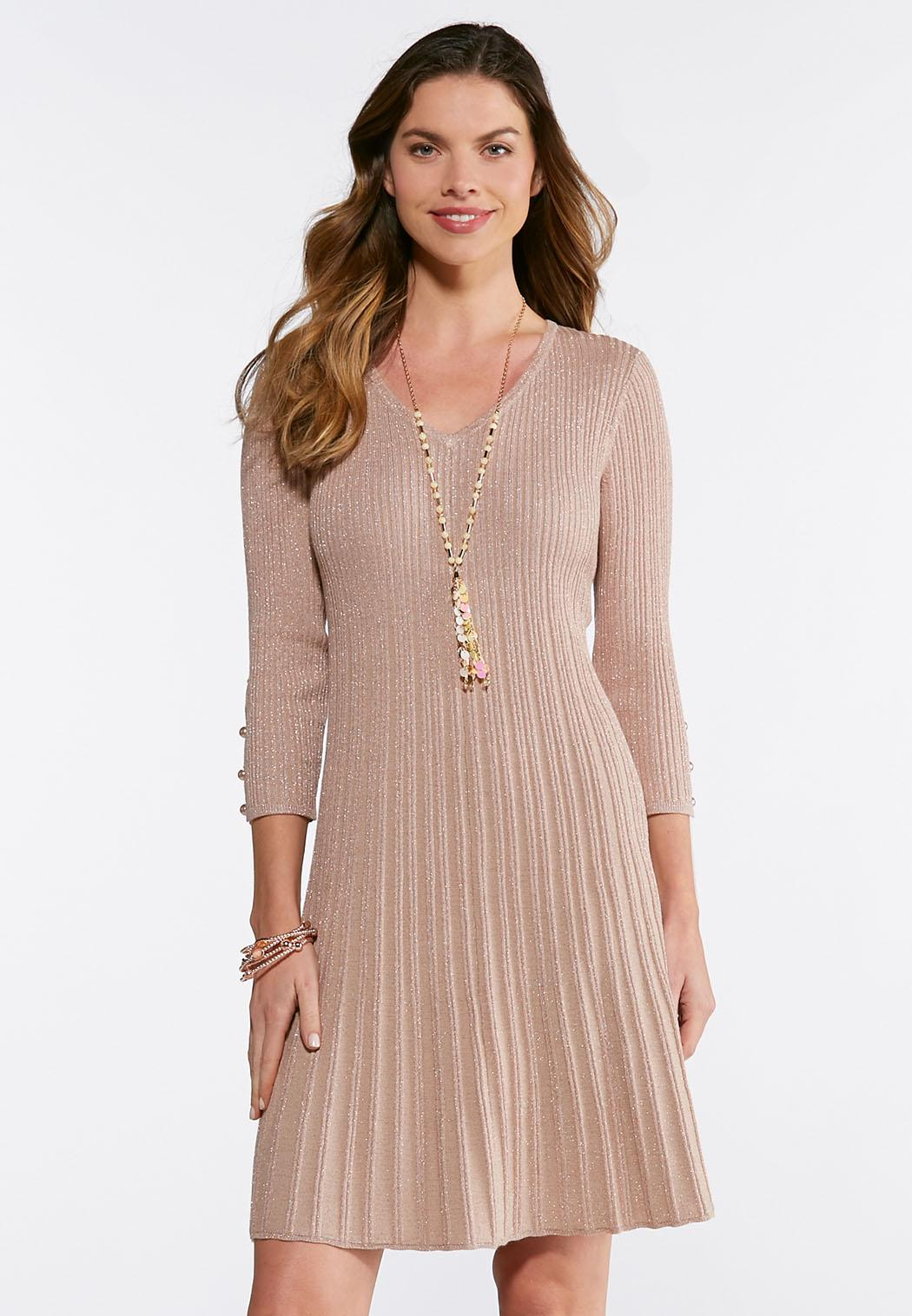 Ribbed Rose Gold Dress Junior/Misses Cato Fashions